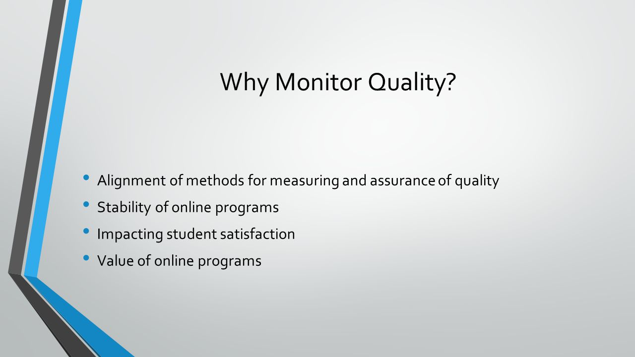 Why Monitor Quality.