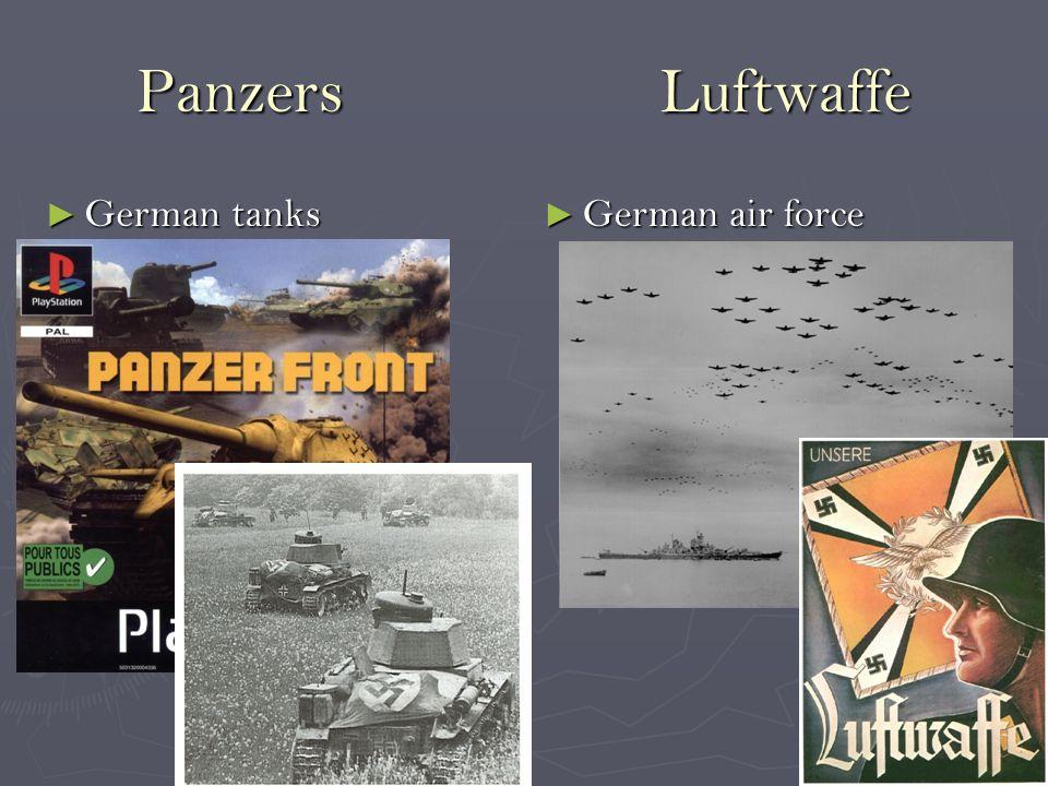 Panzers Luftwaffe ► German tanks ► German air force