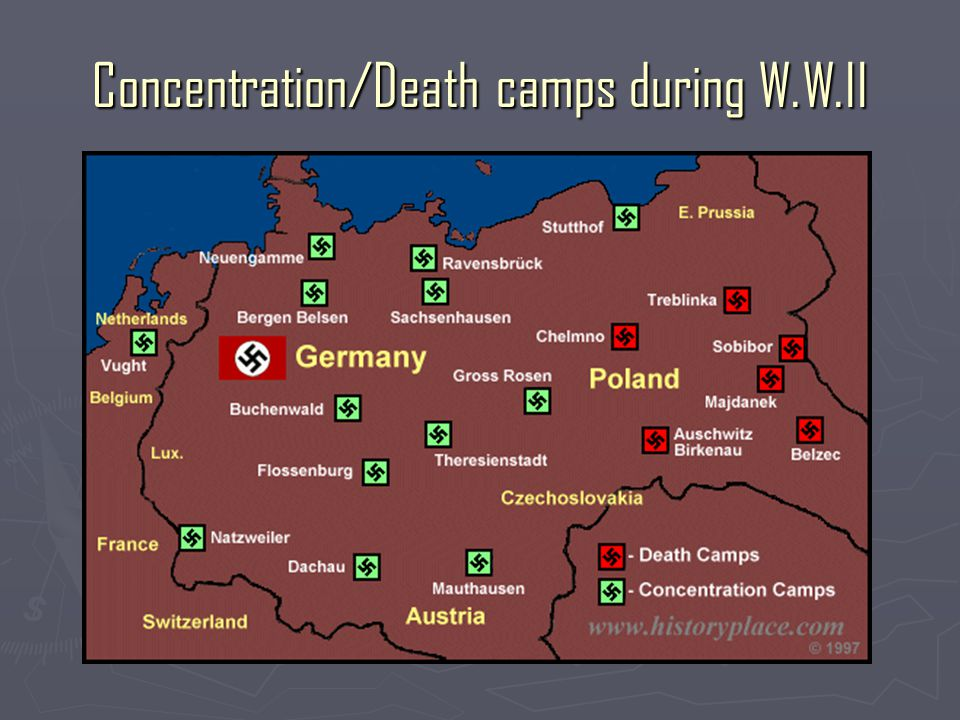 Concentration/Death camps during W.W.II