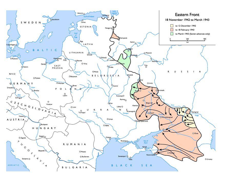 Battle of Stalingrad July 1942-February 1943 – Vital battle on the Eastern Front.