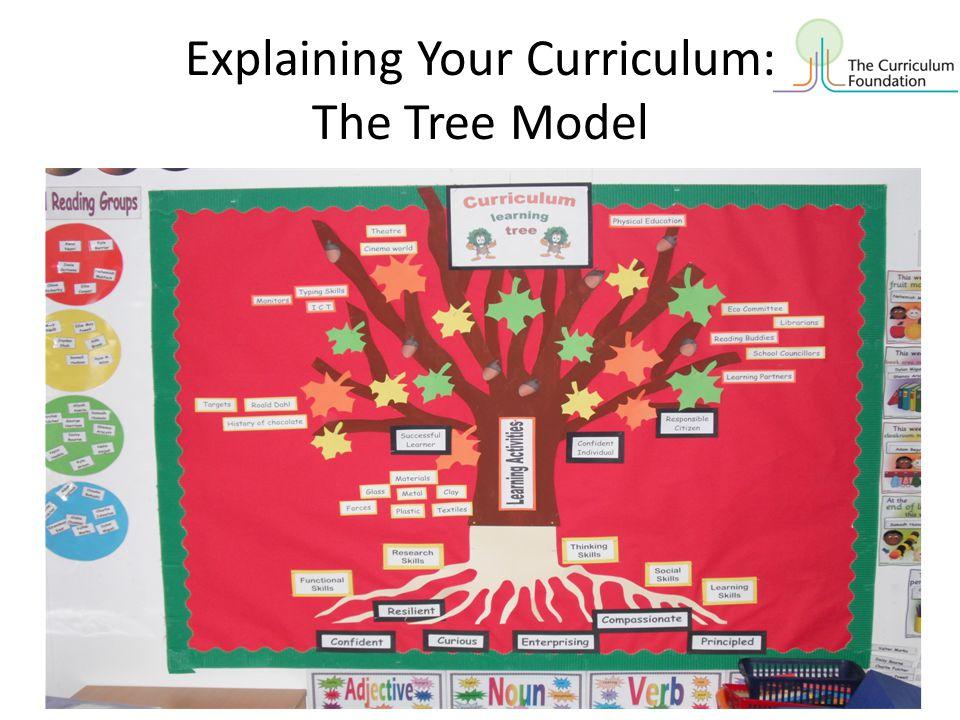 Explaining Your Curriculum: The Tree Model