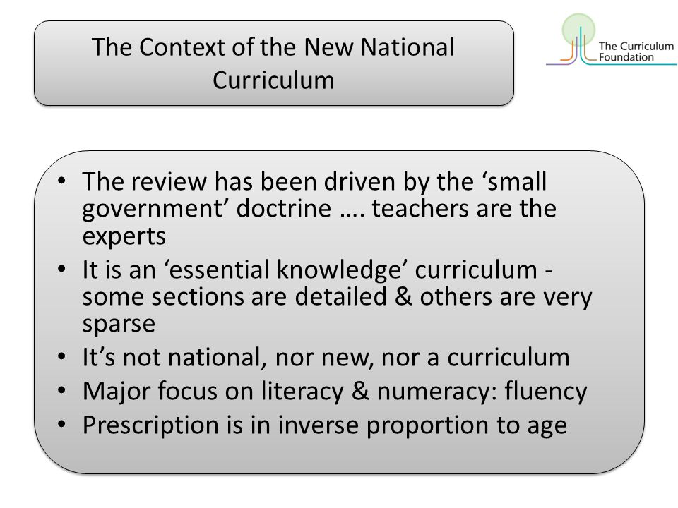 What do we mean by 'the curriculum'.