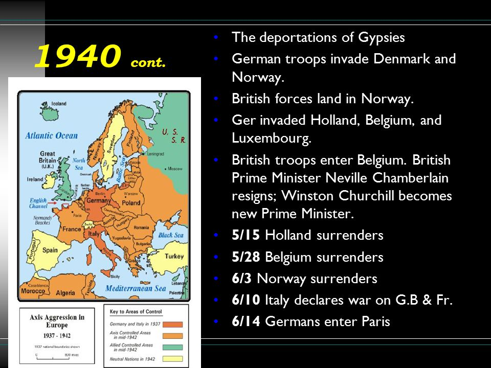1941 March 11: FDR signs Lend-Lease Bill.April 6: Germany invades Greece and Yugoslavia.