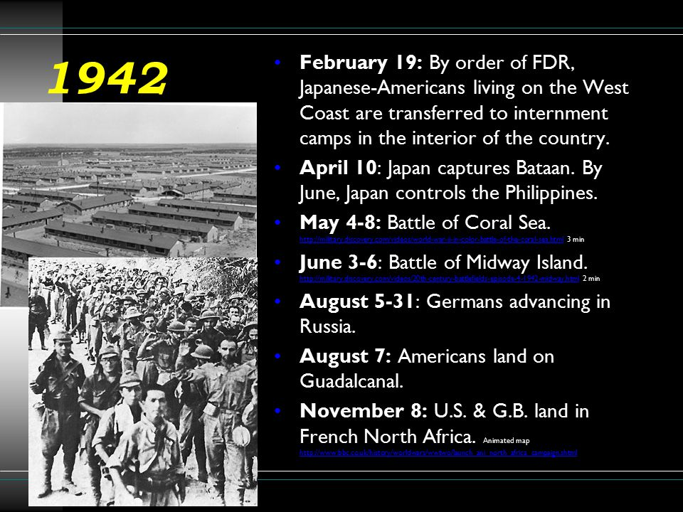 1943 January 14: FDR and Churchill meet at Casablanca, decide on a policy of Unconditional Surrender. January 31: Ger.
