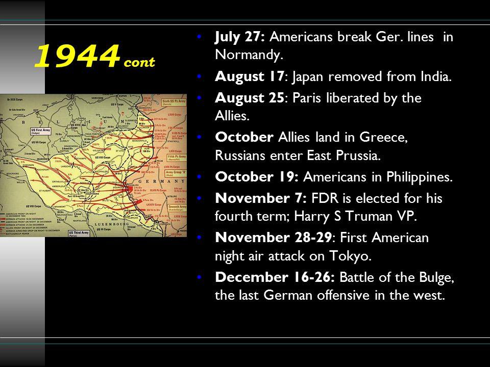 1945 February 4: Am.enter Manila: Yalta Conference.