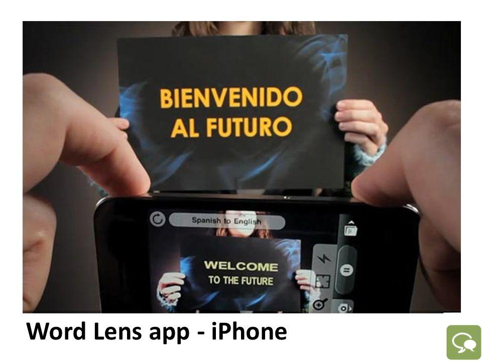 Word Lens app - iPhone