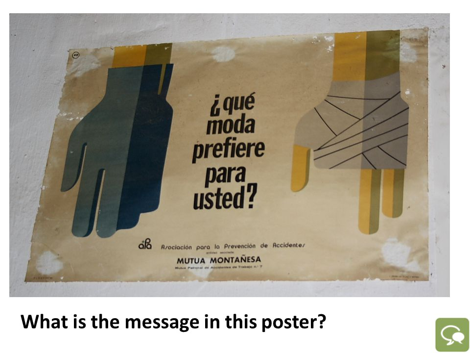 What is the message in this poster?