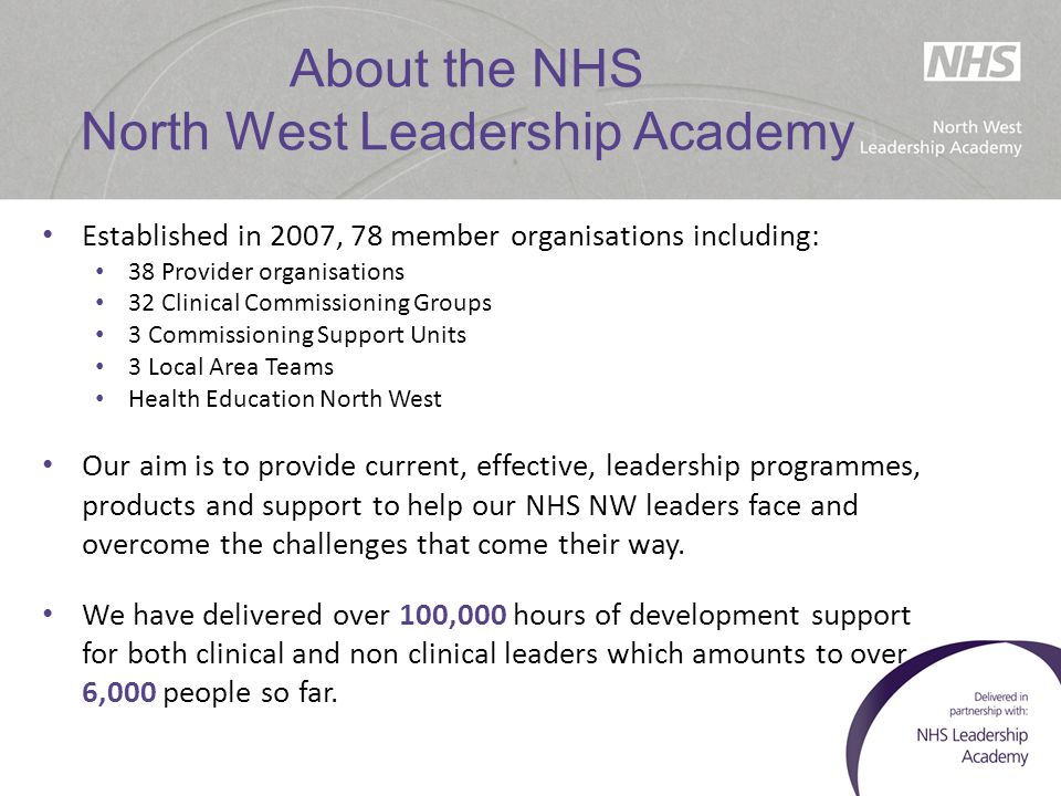 About the EA Network  Personal development & networking events & workshops  Dedicated online portal: http://www.nwacademy.nhs.uk/user  MEMO – Newsletter  Access to mentoring (www.nwmentoring.nhs.uk)