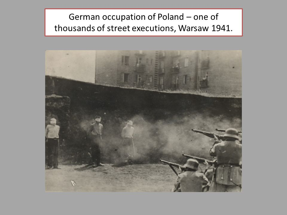 German occupation of Poland – one of thousands of street executions, Warsaw 1941.
