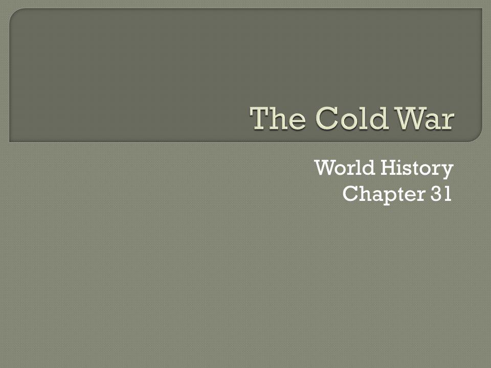 World History Chapter 31