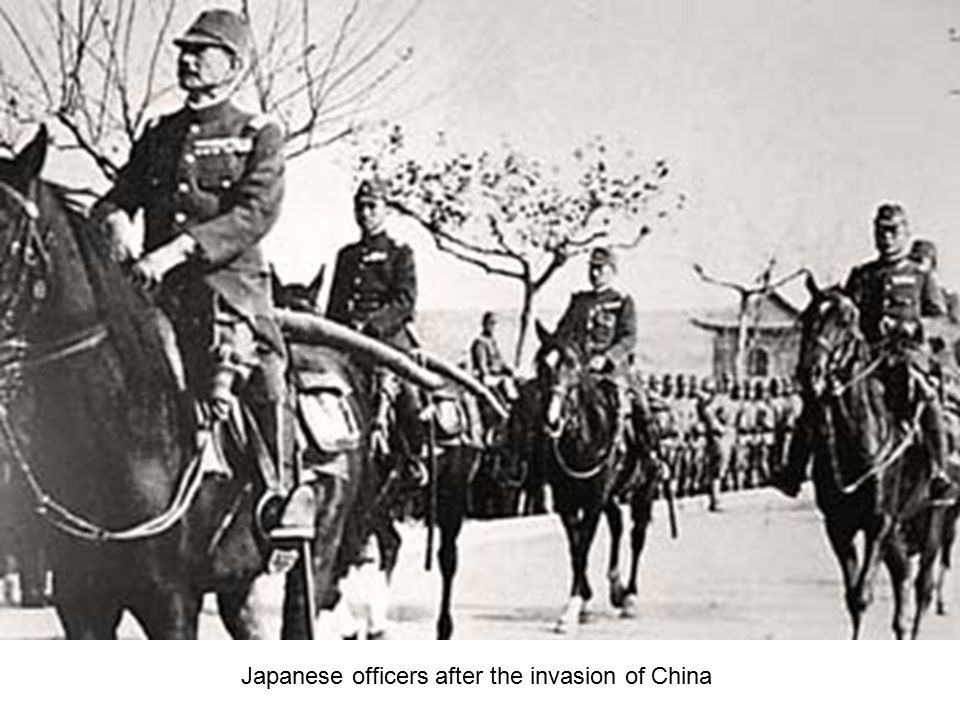 Japanese officers after the invasion of China
