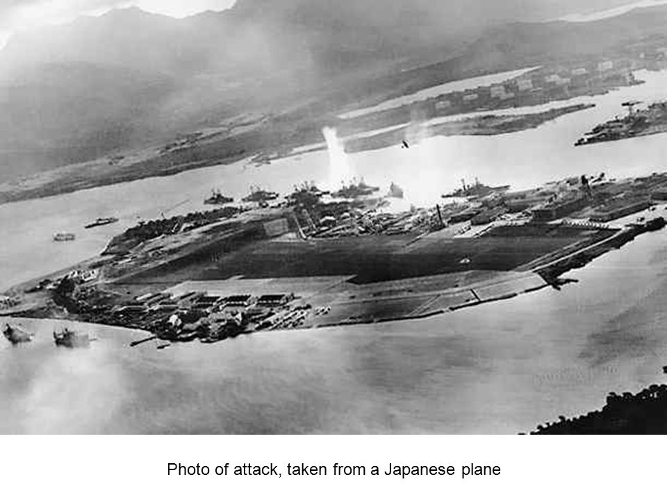 Photo of attack, taken from a Japanese plane