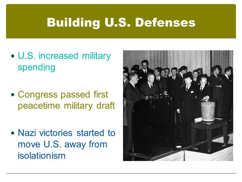 Building U.S. Defenses U.S.