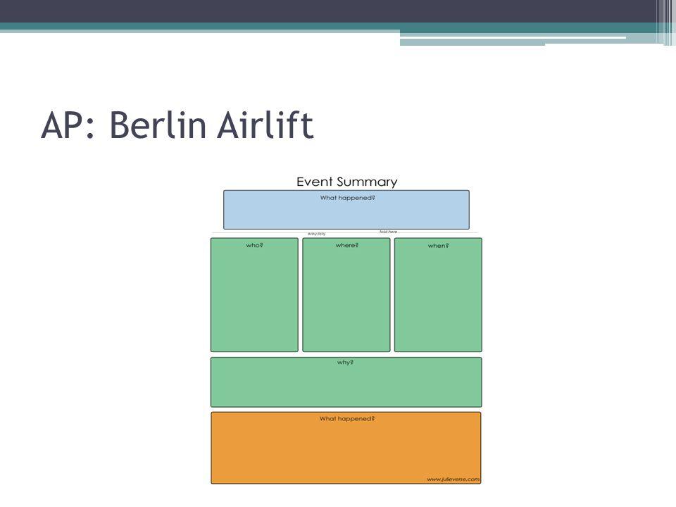 AP: Berlin Airlift