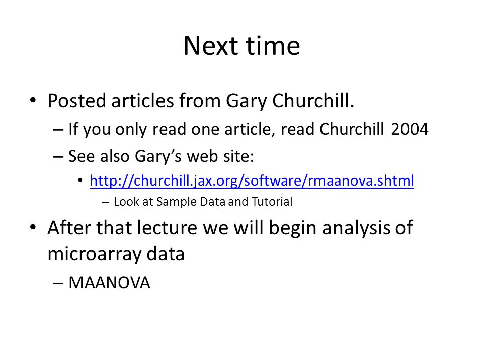 Next time Posted articles from Gary Churchill.