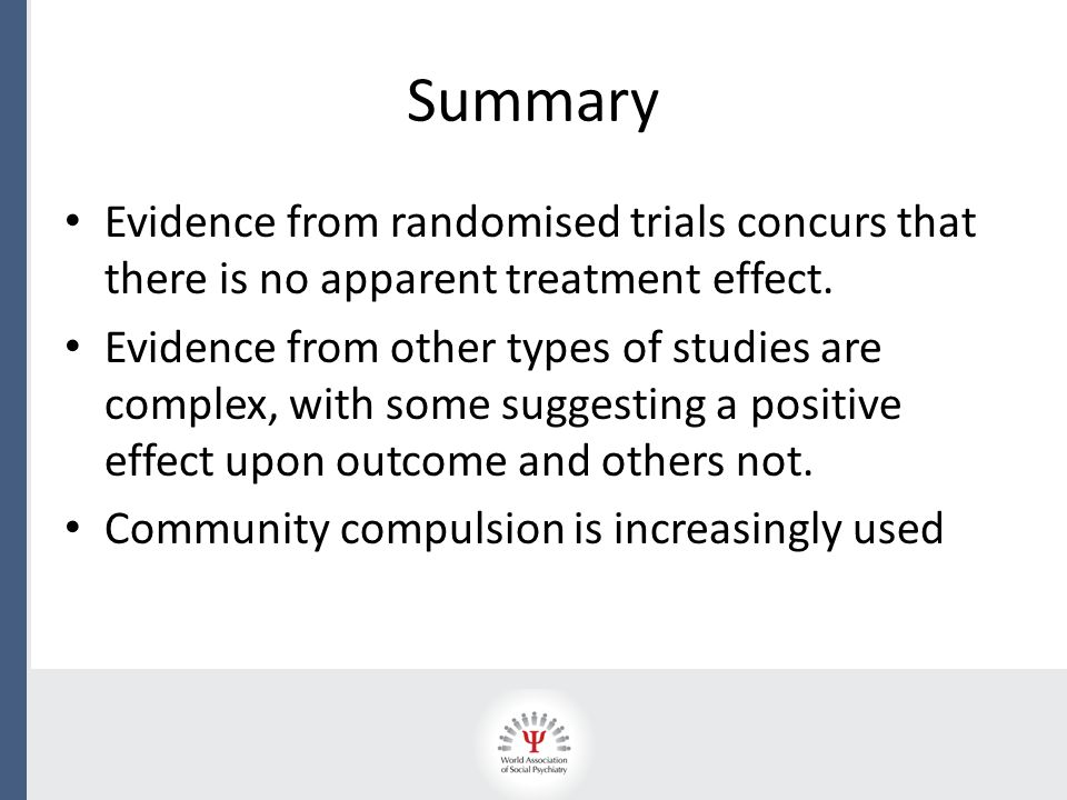 Summary Evidence from randomised trials concurs that there is no apparent treatment effect.