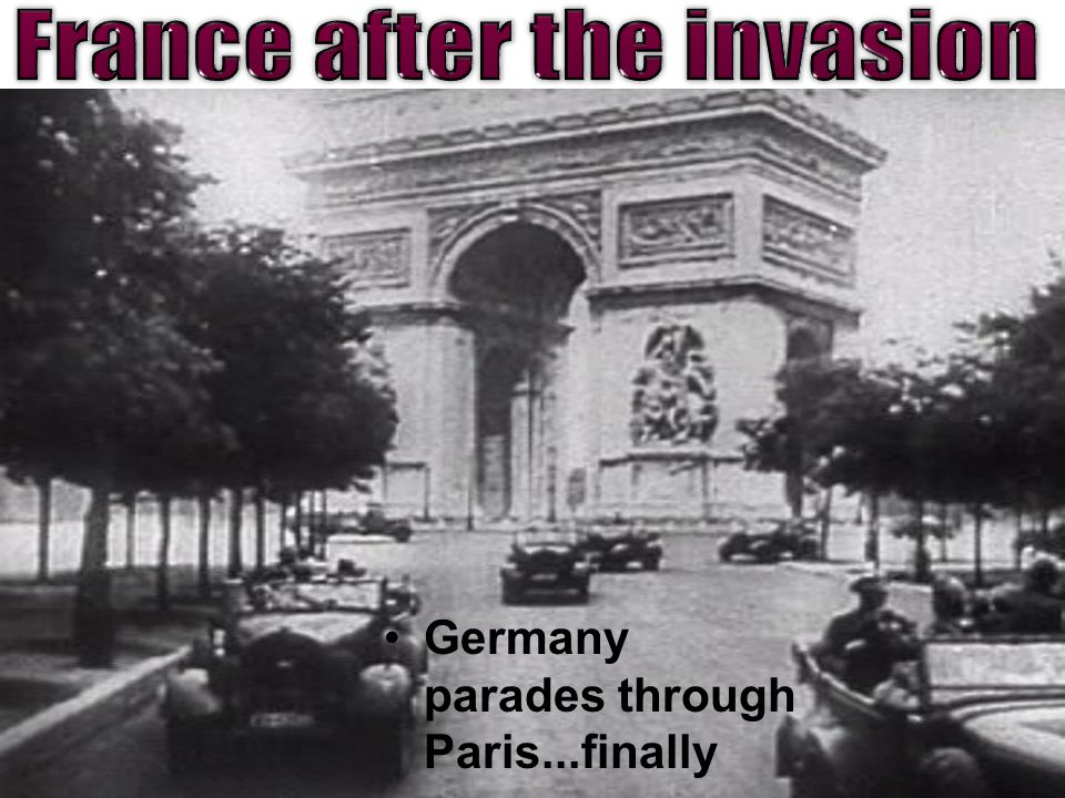 Germany parades through Paris...finally