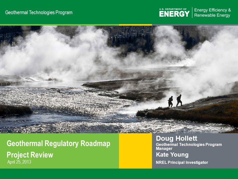 22 | US DOE Geothermal Programeere.energy.gov White Paper Suggestions.