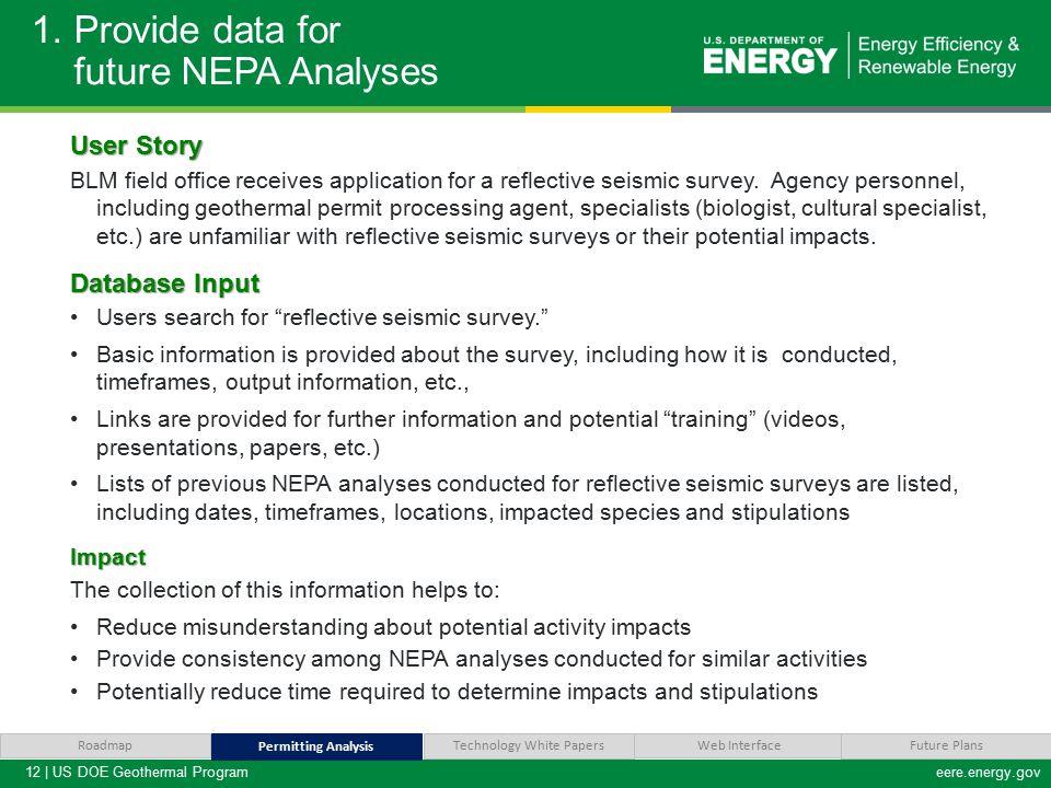 12 | US DOE Geothermal Programeere.energy.gov 1.