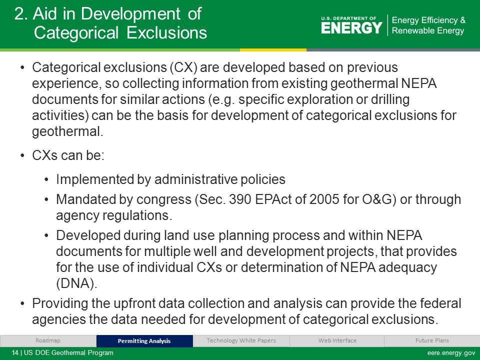 14 | US DOE Geothermal Programeere.energy.gov 2.