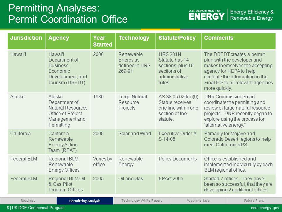 7 | US DOE Geothermal Programeere.energy.gov Analysis Suggestions.