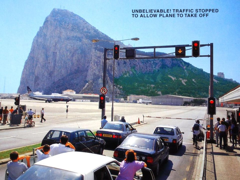 Panoramic photograph of Gibraltar Airport