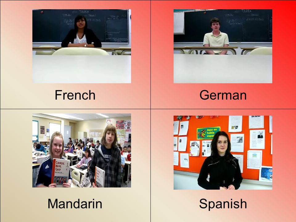 Learn Chinese, French, German, & Spanish at Sir Winston Churchill Special Thanks To: Kida Sammy Farzin Imogen Alex Connor Emily