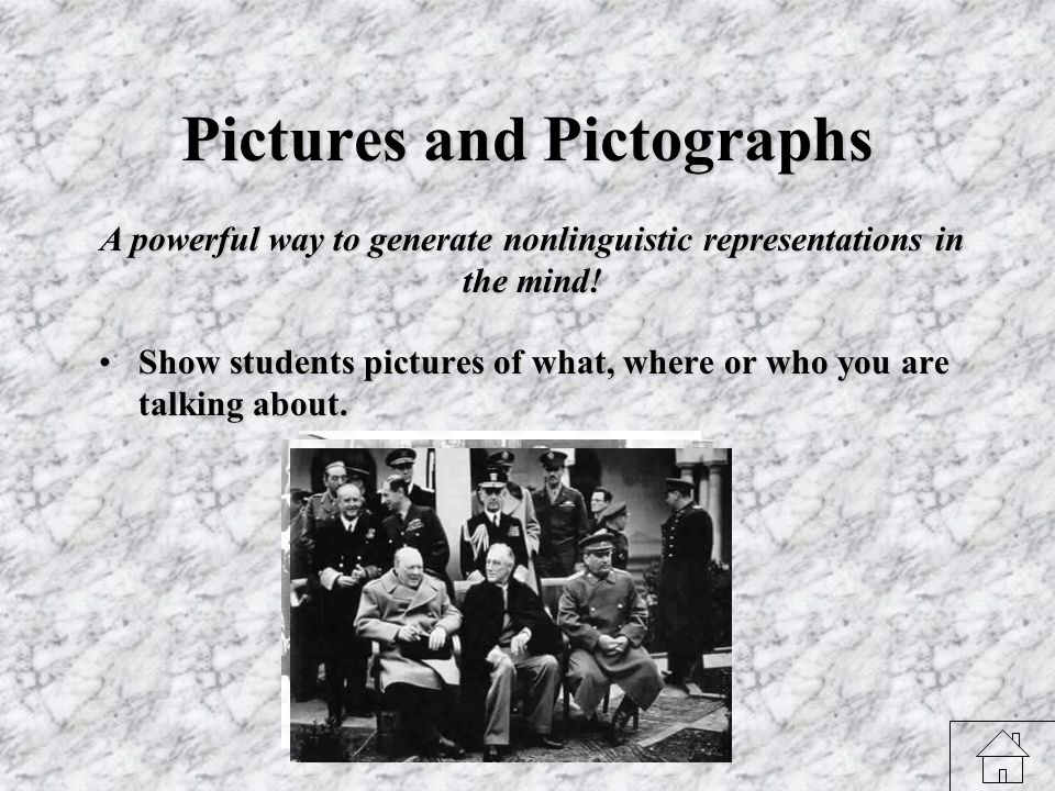 Mental Pictures Have students close their eyes and imagine!Have students close their eyes and imagine.