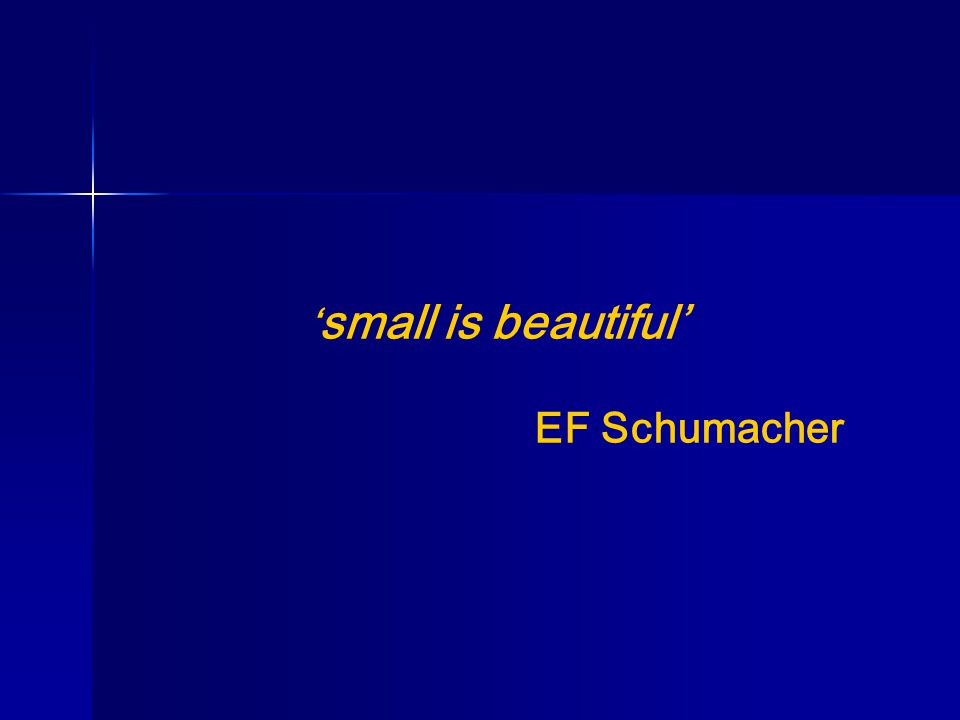 ' small is beautiful' EF Schumacher