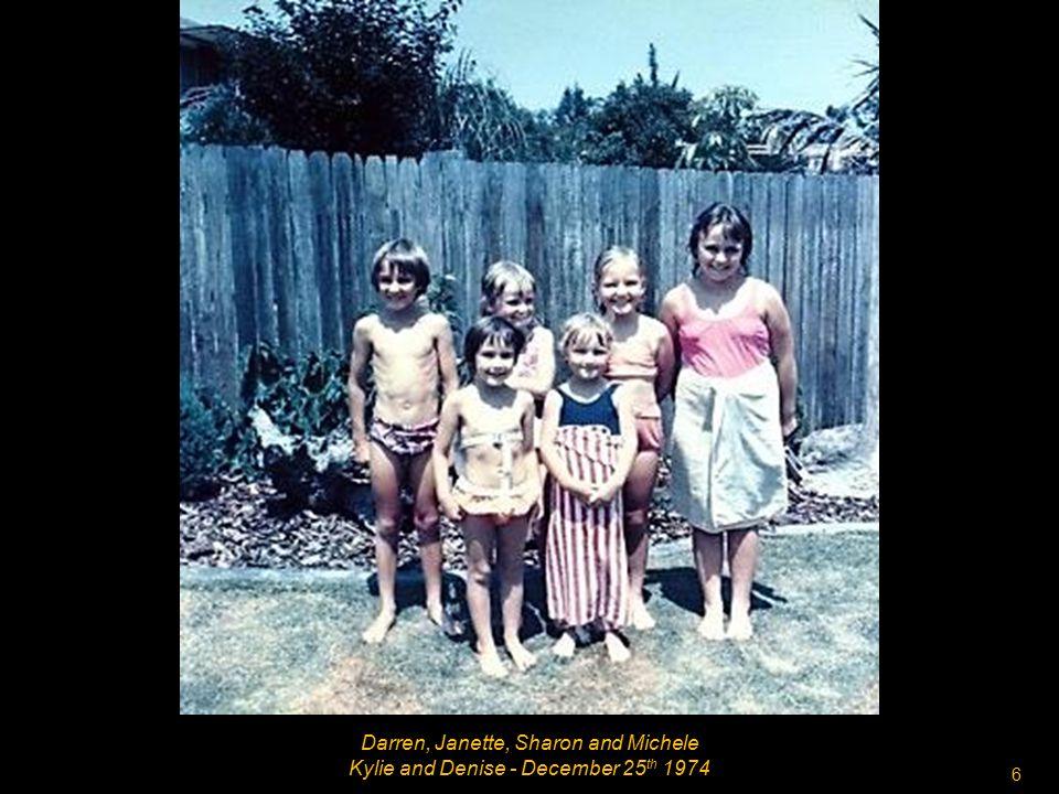 5 Kelvin, Carol, Desney. Stephen and Allan Denise - December 25 th 1974