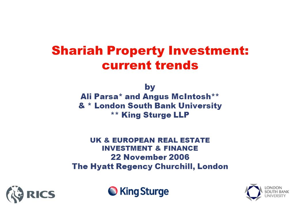 Choice of Finance Structure – 2006 (2005) Mudarabah – 53% (51%) - investment partnership Investment partnership: Rabul-Mal, investor, provides capital to Mudarib, entrepreneur, to undertake business/investment
