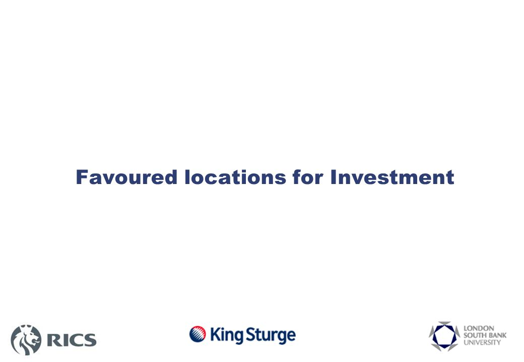 Favoured locations for Investment