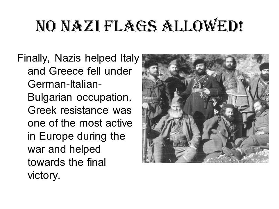 No Nazi flags Allowed.