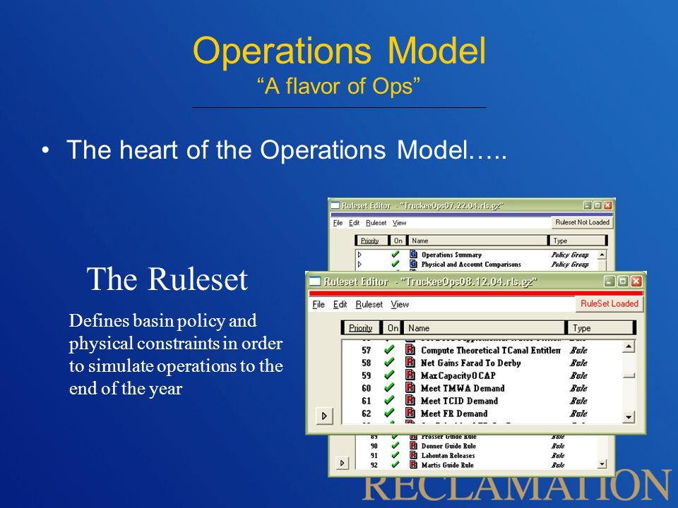 The heart of the Operations Model…..