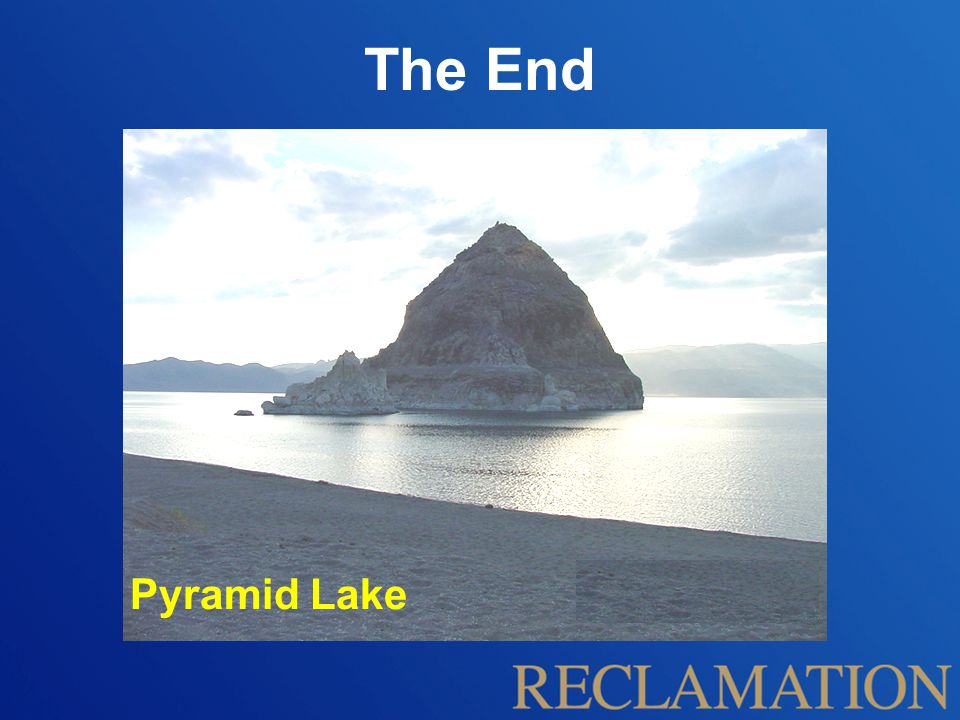 The End Pyramid Lake