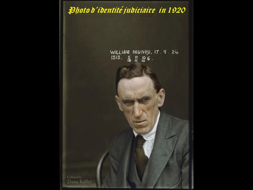 Photo d'identité judiciaire in 1920