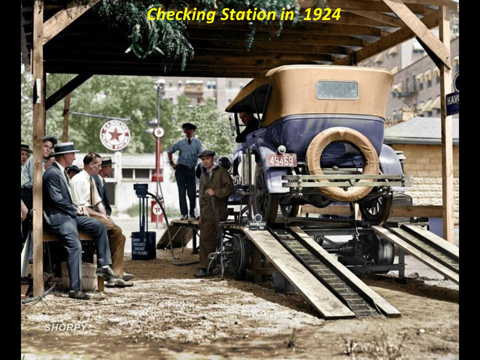 Checking Station in 1924