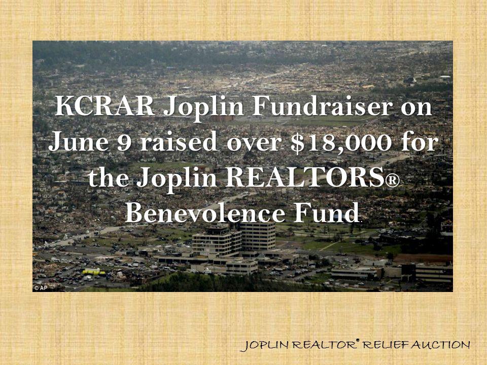 KCRAR Joplin Fundraiser on June 9 raised over $18,000 for the Joplin REALTORS® Benevolence Fund.
