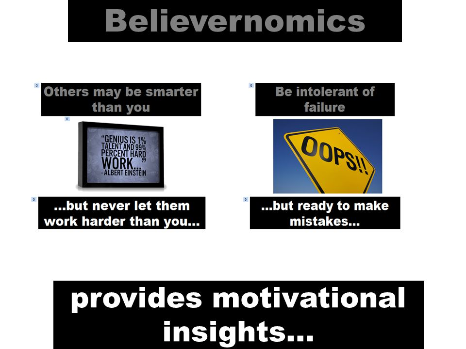 Believernomics provides motivational insights…