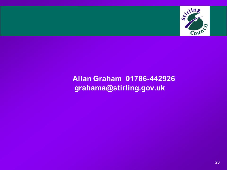 23 Allan Graham 01786-442926 grahama@stirling.gov.uk