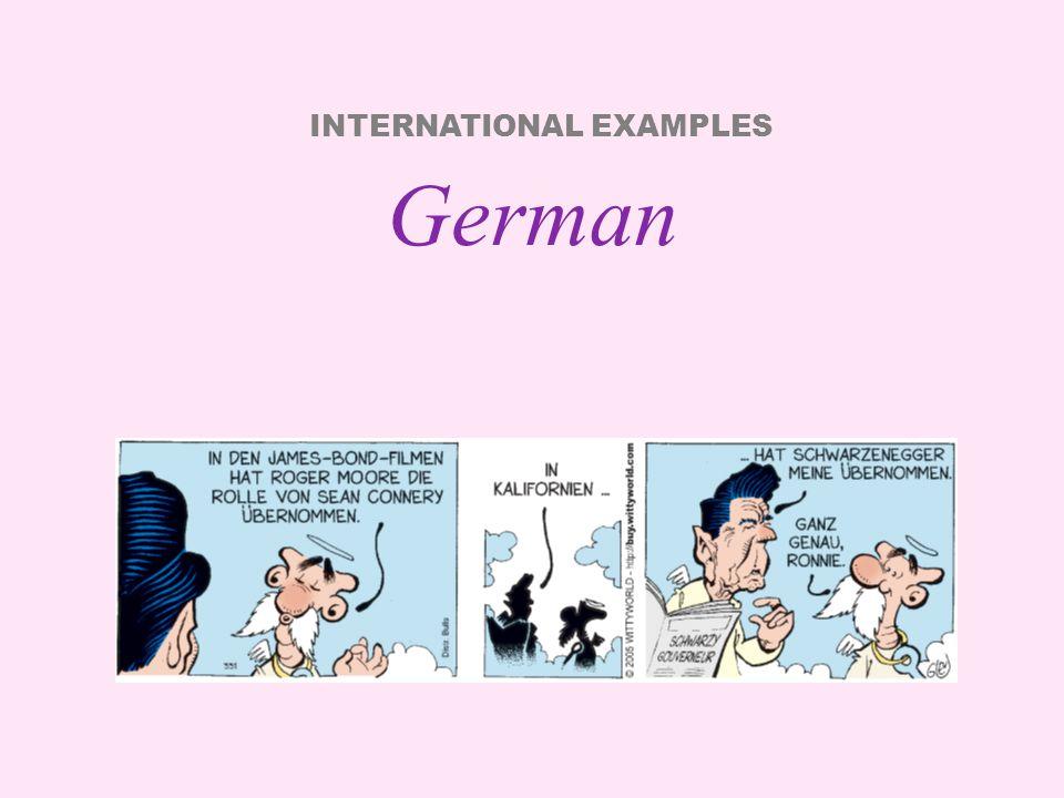 INTERNATIONAL EXAMPLES Polish