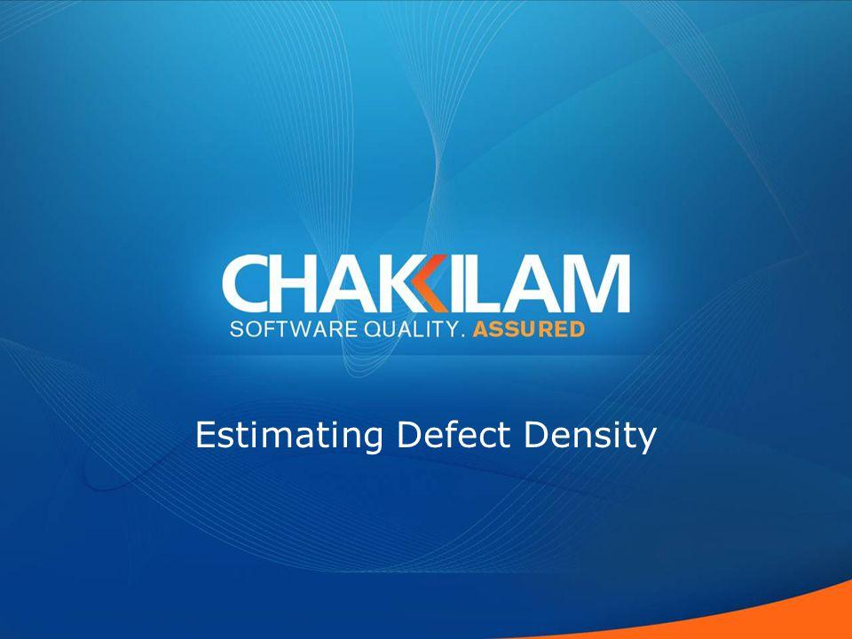Estimating Defect Density