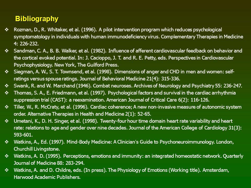 Bibliography   Rozman, D., R. Whitaker, et al. (1996).