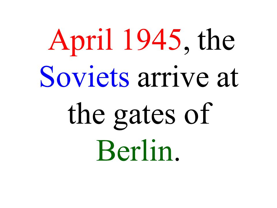 The Allies move towards Berlin