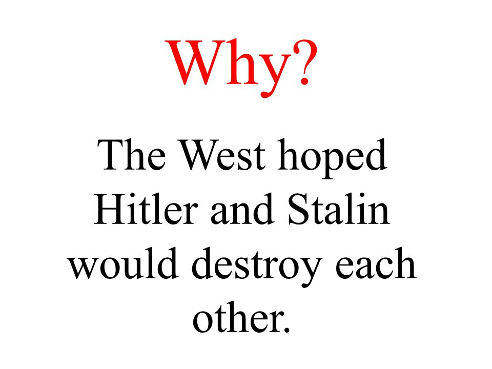 Stalin asked the Allies to open a new front to take the pressure off the USSR The West hesitated a long time .