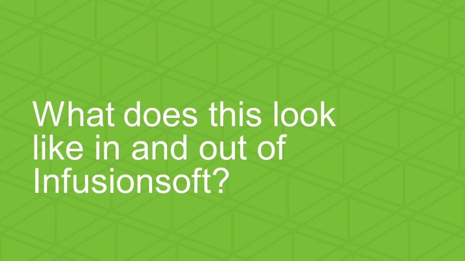 We help small businesses succeed. What does this look like in and out of Infusionsoft?