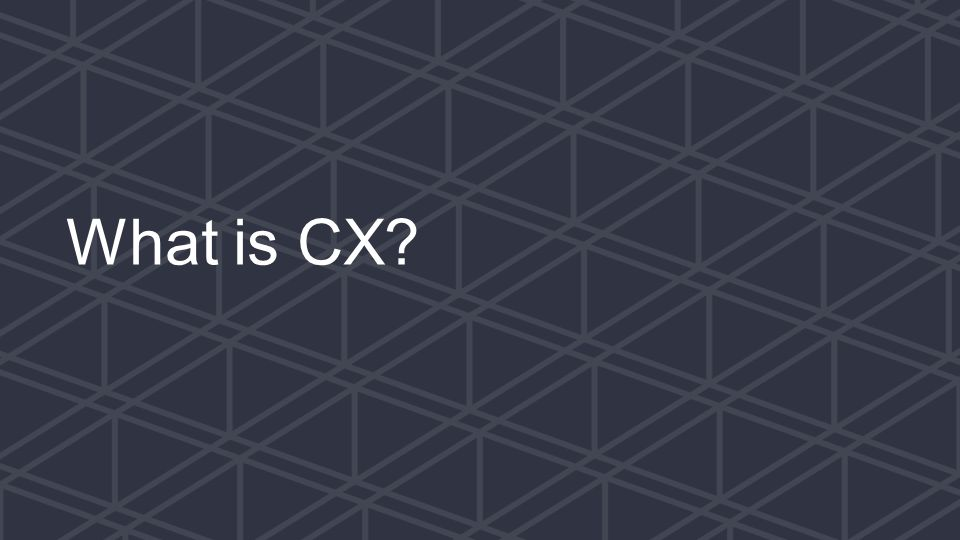 We help small businesses succeed. What is CX