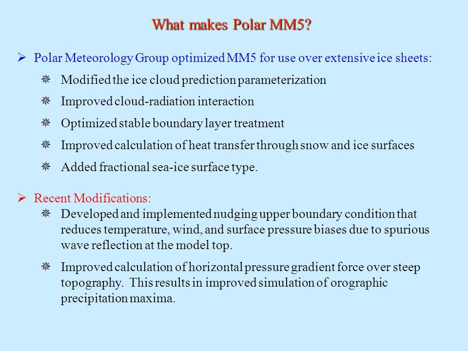 What makes Polar MM5.