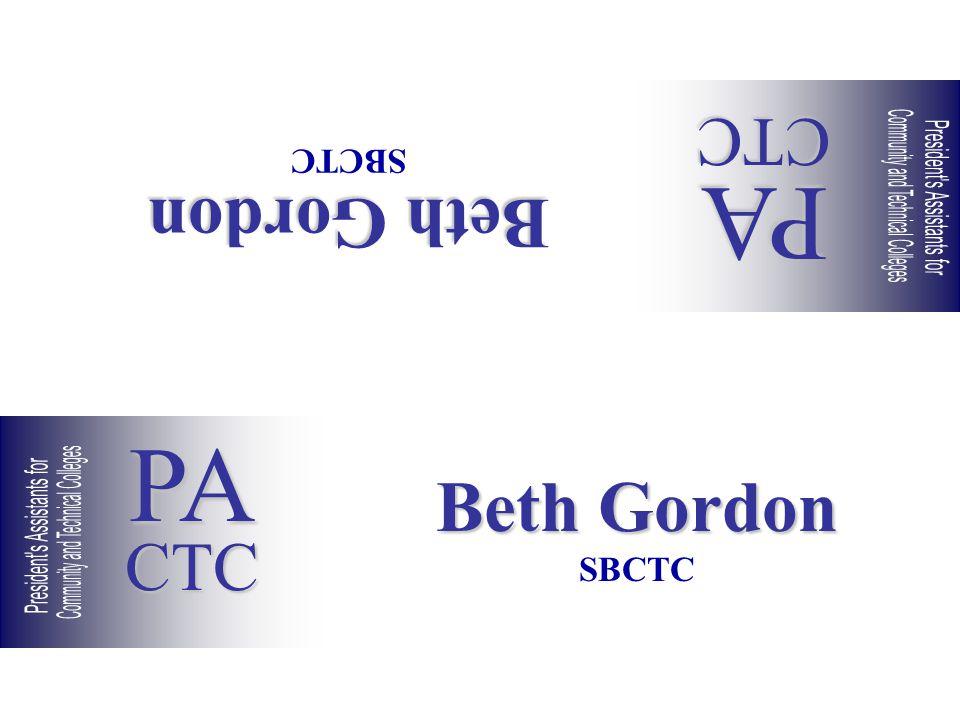 Beth Gordon SBCTC Beth Gordon SBCTC PACTC PACTC