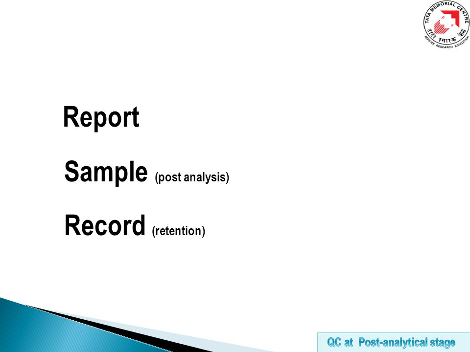 Report Sample (post analysis) Record (retention)